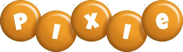 Pixie candy-orange logo