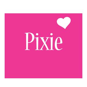 Pixie love-heart logo