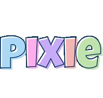 Pixie pastel logo