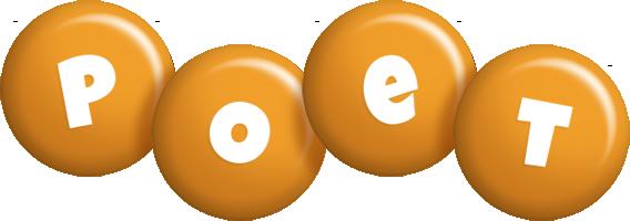 Poet candy-orange logo