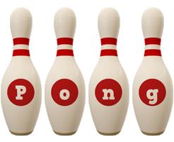 Pong bowling-pin logo