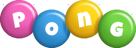 Pong candy logo