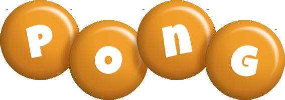 Pong candy-orange logo