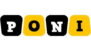 Poni boots logo