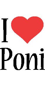 Poni i-love logo