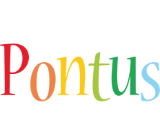 Pontus birthday logo