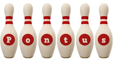Pontus bowling-pin logo