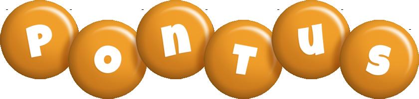 Pontus candy-orange logo