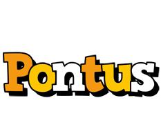 Pontus cartoon logo
