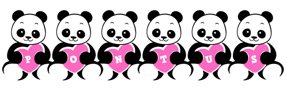 Pontus love-panda logo