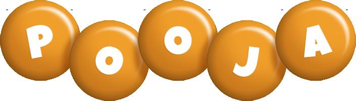 Pooja candy-orange logo