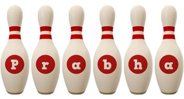 Prabha bowling-pin logo