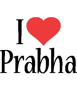 Prabha i-love logo