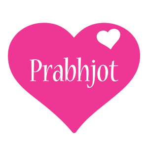 Prabhjot love-heart logo