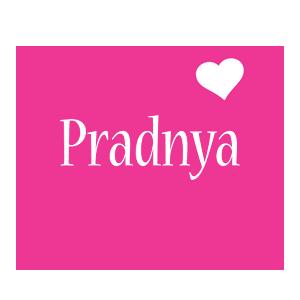 Pradnya love-heart logo