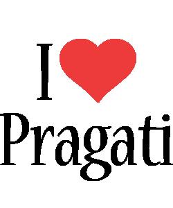 Pragati i-love logo