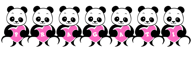 Pragati love-panda logo