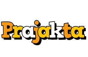 Prajakta cartoon logo