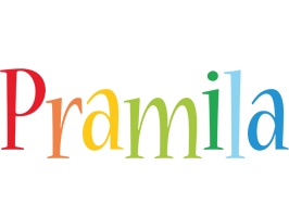 Pramila birthday logo