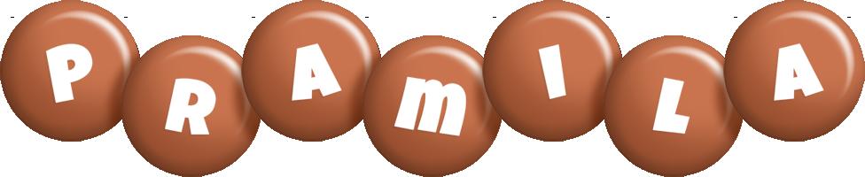Pramila candy-brown logo