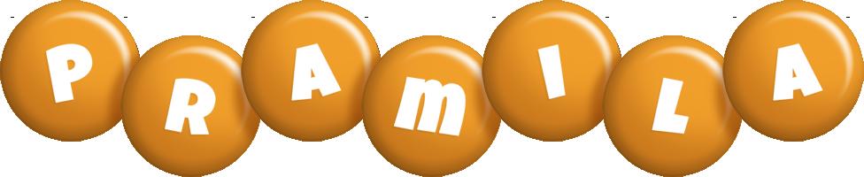 Pramila candy-orange logo