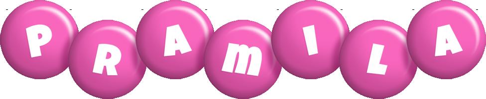 Pramila candy-pink logo
