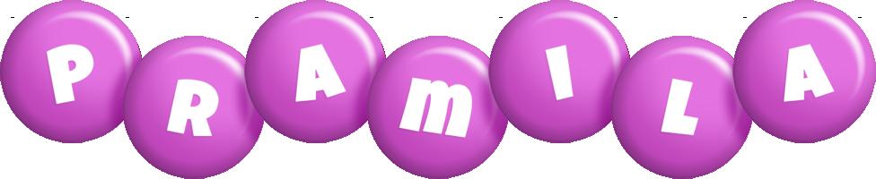 Pramila candy-purple logo