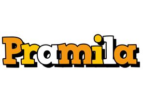 Pramila cartoon logo