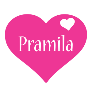 Pramila love-heart logo