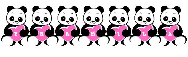 Pramila love-panda logo