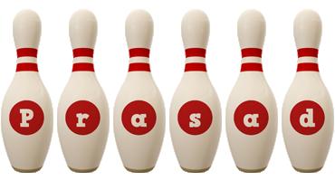 Prasad bowling-pin logo