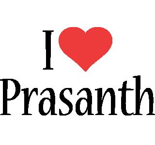 Prasanth i-love logo