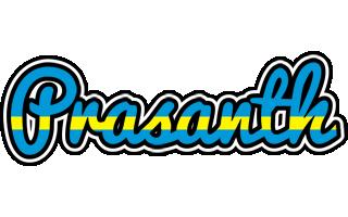 Prasanth sweden logo