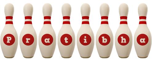 Pratibha bowling-pin logo