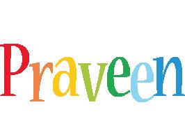Praveen birthday logo