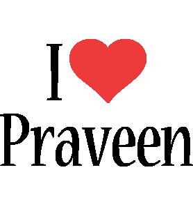 Praveen i-love logo