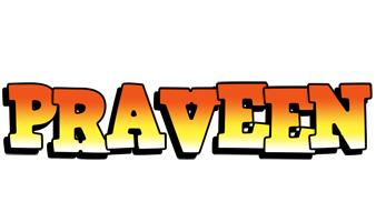 Praveen sunset logo