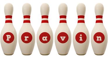 Pravin bowling-pin logo