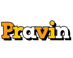 Pravin cartoon logo