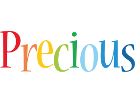 Precious birthday logo