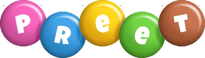 Preet candy logo