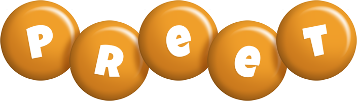 Preet candy-orange logo