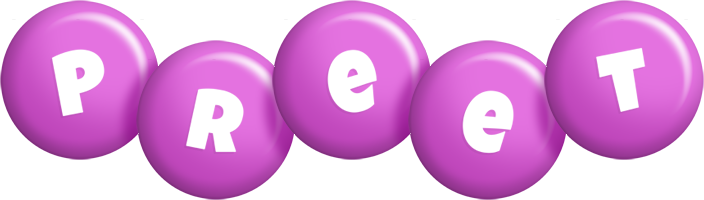Preet candy-purple logo