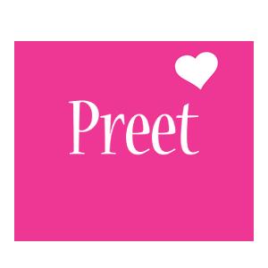 Preet love-heart logo