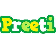 Preeti soccer logo