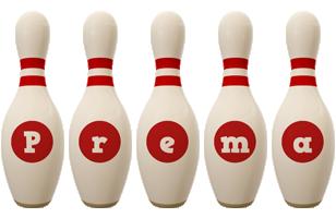 Prema bowling-pin logo