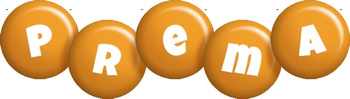 Prema candy-orange logo