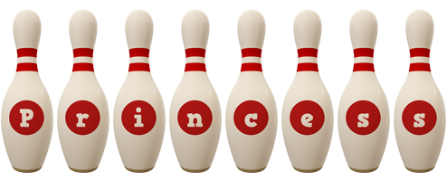 Princess bowling-pin logo