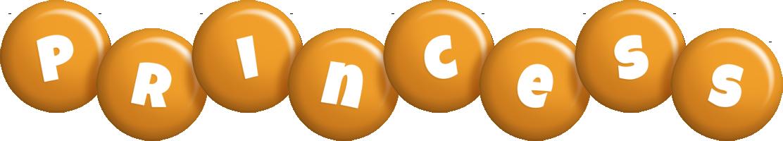 Princess candy-orange logo