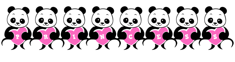 Princess love-panda logo